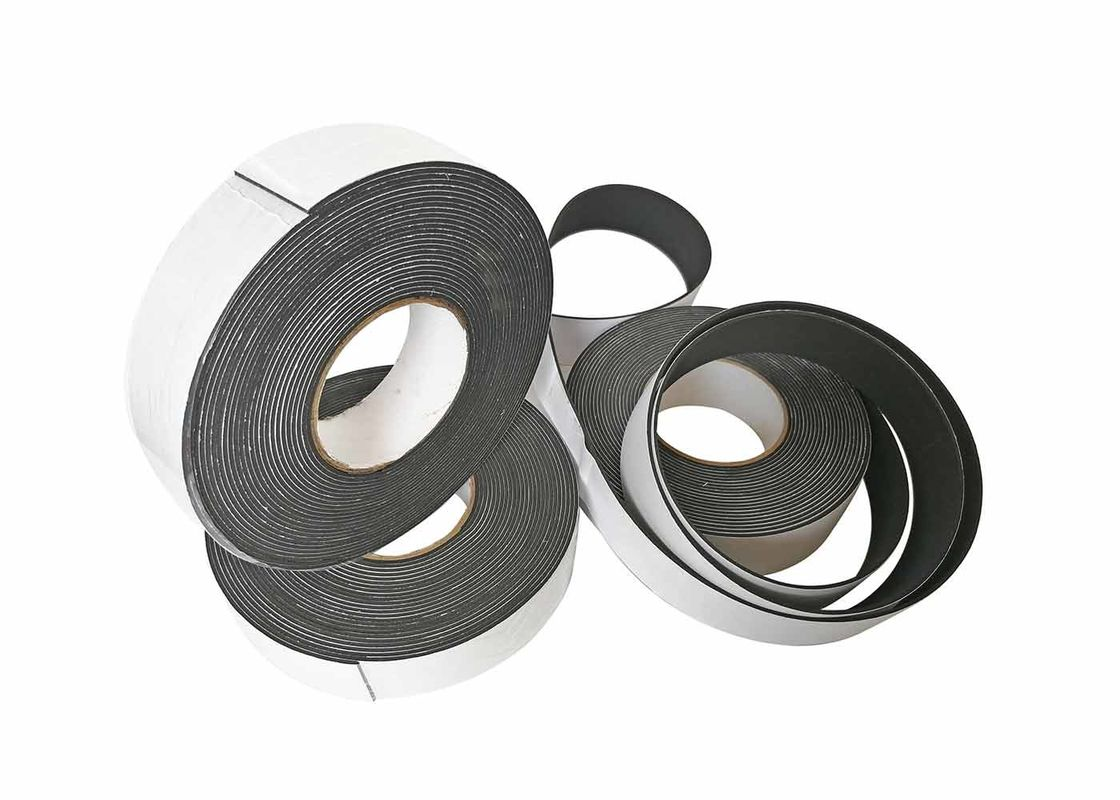 Strong Single Sided EVA Foam Tape Black Self Adhesive Buffer Shockproof For Door Window Insulation